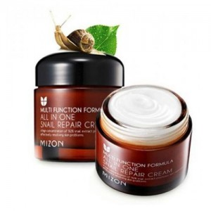Mizon Восстанавливающий крем для лица с муцином улитки All In One Snail Repair Cream, 75 мл