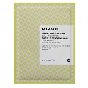 Mizon Тканевая маска с лавандой Enjoy Vital-Up Time Soothing Mask, 23 мл
