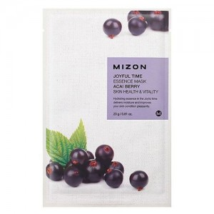 Mizon Маска для лица тканевая с ягодами асаи Joyful Time Essence Acai Berry Mask, 23 гр