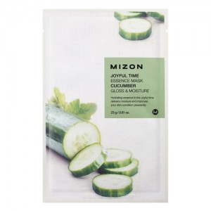 Mizon Маска для лица тканевая с огурцом Joyful Time Essence Cucumber Mask, 23 гр