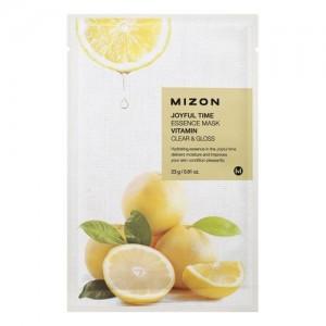 Mizon Маска для лица тканевая с витамином С Joyful Time Essence Vitamin Mask, 23 гр