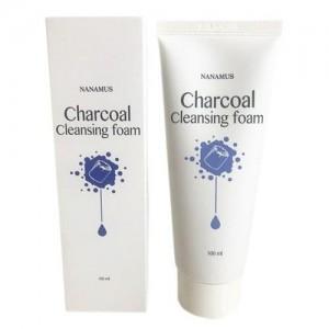 Nanamus Пенка для умывания с углем Charcoal Foam Cleansing, 100 мл