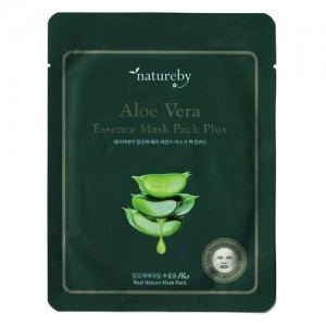Natureby Питательная маска с экстрактом алоэ Aloe Essence Mask Sheet Plus, 23 гр