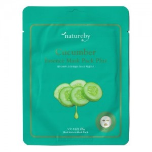 Natureby Питательная маска с экстрактом огурца Cucumber Essence Mask Sheet Plus, 23 гр