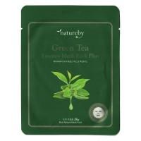 Natureby Питательная маска с экстрактом зеленого чая Green Tea Essence Mask Sheet Plus, 23 гр