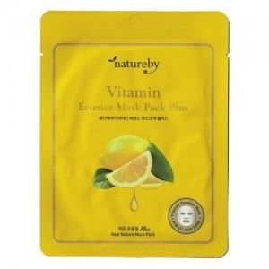 Natureby Питательная маска с витамином С Vitamin Essence Mask Sheet Plus, 23 гр