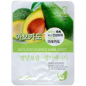 Natureby Питательная маска с экстрактом авокадо Avocado Essence Mask Sheet, 23 гр
