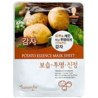 Natureby Питательная маска с экстрактом картофеля Potato Essence Mask Sheet, 23 гр