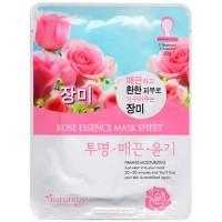 Natureby Питательная маска с экстрактом розы Rose Essence Mask Sheet, 23 гр