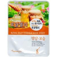 Natureby Питательная маска с экстрактом маточного молока Royal Jelly Essence Mask Sheet, 23 гр