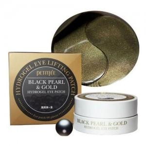 Petitfee Гидрогелевые патчи для кожи вокруг глаз с черным жемчугом и золотом Black Pearl & Gold Hydrogel Eye Patch, 60 шт