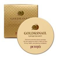 Petitfee Гидрогелевые патчи для глаз с золотом и улиткой Gold & Snail Hydrogel Eye Patch, 60 шт