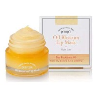 Petitfee Маска для губ с витамином Е и маслом облепихи Oil Blossom Lip Mask (Sea Buckthorn Oil), 15 мл