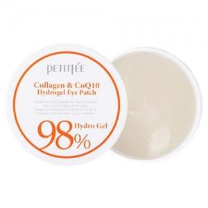 Petitfee Гидрогелевые патчи для век с коллагеном и коэнзимом Q10 Collagen & Coenzyme Q10 Hydrogel Eye Patch, 60 шт