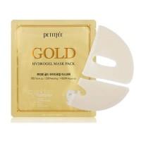 Petitfee Гидрогелевая маска для лица с золотом Gold Hydrogel Mask Pack, 30 гр