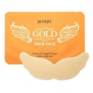 Petitfee Гидрогелевая маска для шеи с золотом Gold Neck Pack For Firming & Silky Smooth Neck, 10 гр