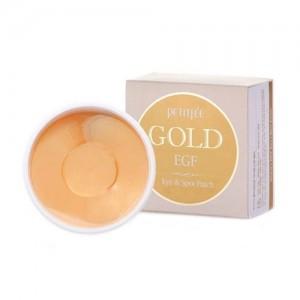 Petitfee Гидрогелевые патчи для глаз с золотыми частицами и фактором роста Gold & EGF Eye & Spot Patch, 60 шт + 30 шт
