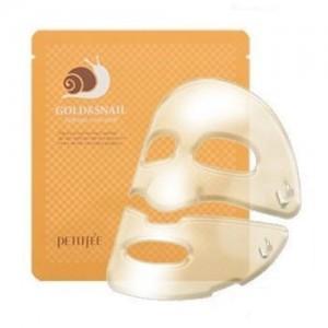 Petitfee Гидрогелевая маска для лица 'Золото и экстракт улитки' Gold & Snail Hydrogel Mask Pack, 30 гр