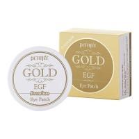 Petitfee Гидрогелевые патчи для глаз 'EGF и золото' премиум Hydro Gel Eye Patch Premium Gold & EGF, 60 шт