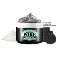 Secret Key Маска для лица с древесным углем для очищения и сужения пор Black Out Pore Minimizing Pack, 100 мл