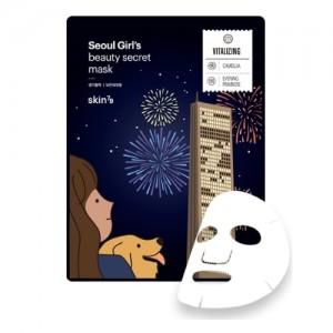 Skin79 Тонизирующая тканевая маска для лица Seoul Girl's Beauty Secret Mask Vitality, 20 гр