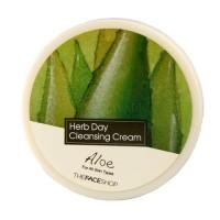 The Face Shop Очищающий крем с экстрактом алое Herb Day Cleansing Cream Aloe, 150 мл