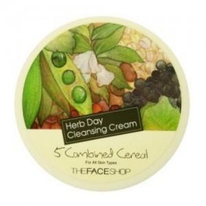 The Face Shop Очищающий крем с зерновыми экстрактами Herb Day Cleansing Cream Five Grain, 150 мл