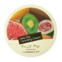 The Face Shop Очищающий крем с экстрактом фруктового микса Herb Day Cleansing Cream Fruit Mix, 150 мл