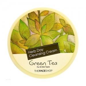 The Face Shop Очищающий крем с экстрактом зеленого чая Herb Day Cleansing Cream Green Tea, 150 мл