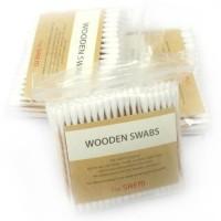 The Saem Ватные палочки из 100% натурального хлопка и древесины Wooden Swab, 300 шт