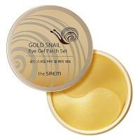 The Saem Гидрогелевые патчи для глаз с экстрактом муцина улитки Gold Snail Eye Gel Patch, 60 шт