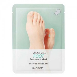 The Saem Маска для ног Pure Natural Foot Treatment Mask, 2*8 гр