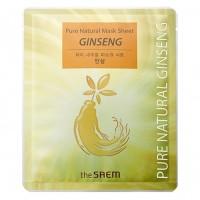 The Saem Тканевая маска для лица с красным женьшенем Pure Natural Mask Sheet Ginseng, 20 гр