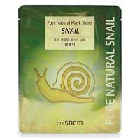 The Saem Тканевая маска для лица с муцином улитки Pure Natural Mask Sheet Snail, 20 гр