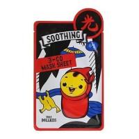 Urban Dollkiss Маска тканевая успокаивающая 3-Go Mask Sheet Soothing, 25 гр