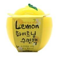 Urban Dollkiss Маска для лица ночная осветляющая с лимоном Lemon Whitening Sleeping Pack, 100 мл